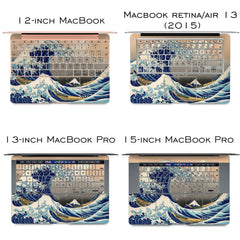 Lex Altern Vinyl MacBook Skin The Great Wave off Kanagawa