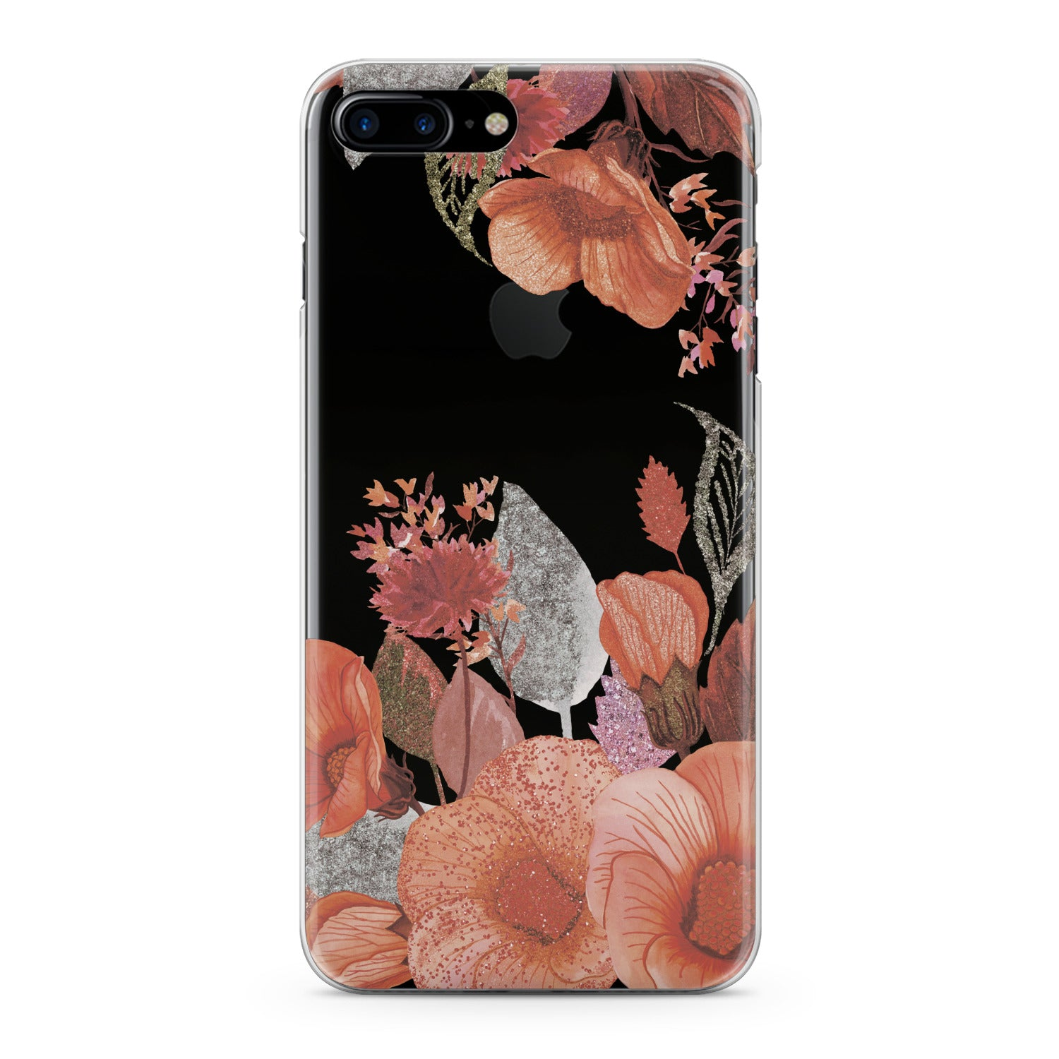 Lex Altern Glitter Flowers Phone Case for your iPhone & Android phone.