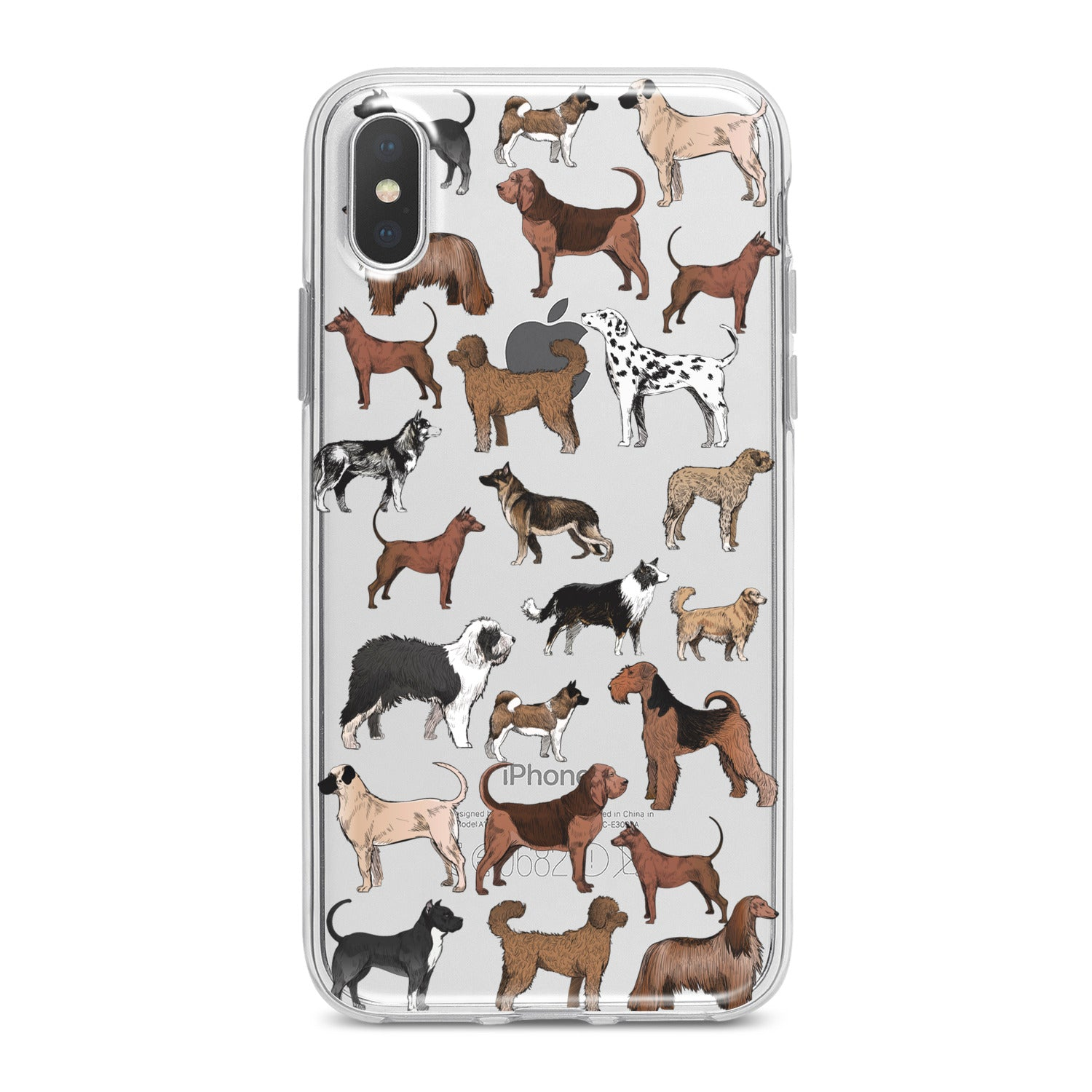 Lex Altern Dog Pattern Phone Case for your iPhone & Android phone.