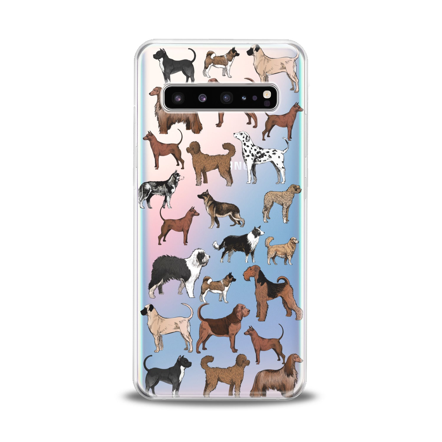 Lex Altern Dog Pattern Samsung Galaxy Case