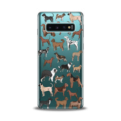 Lex Altern TPU Silicone Samsung Galaxy Case Dog Pattern