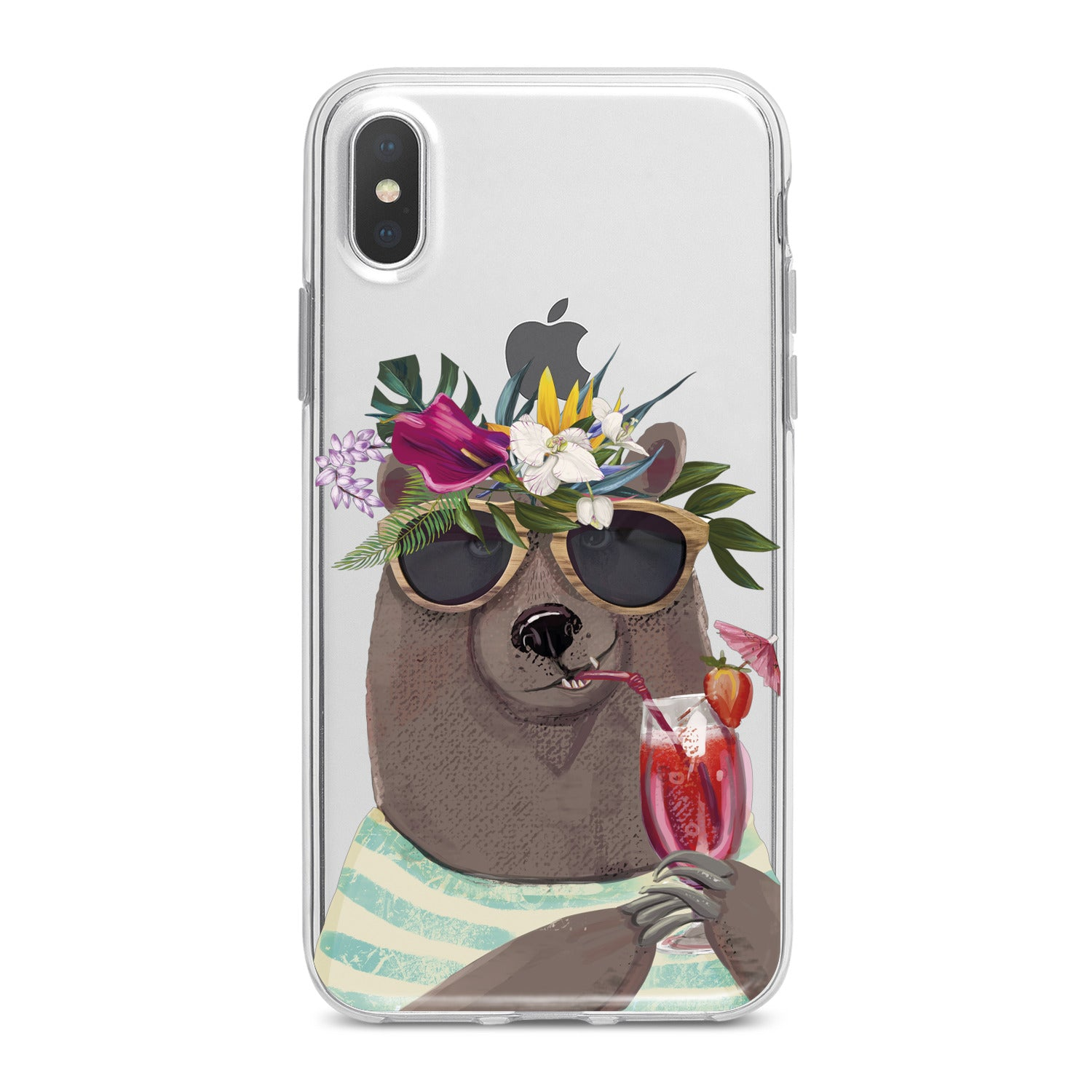 Lex Altern Summer Bear Phone Case for your iPhone & Android phone.