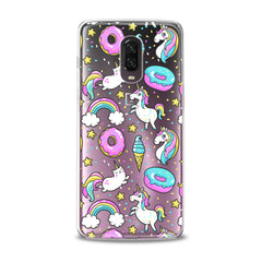 Lex Altern TPU Silicone Phone Case Unicorn Donut