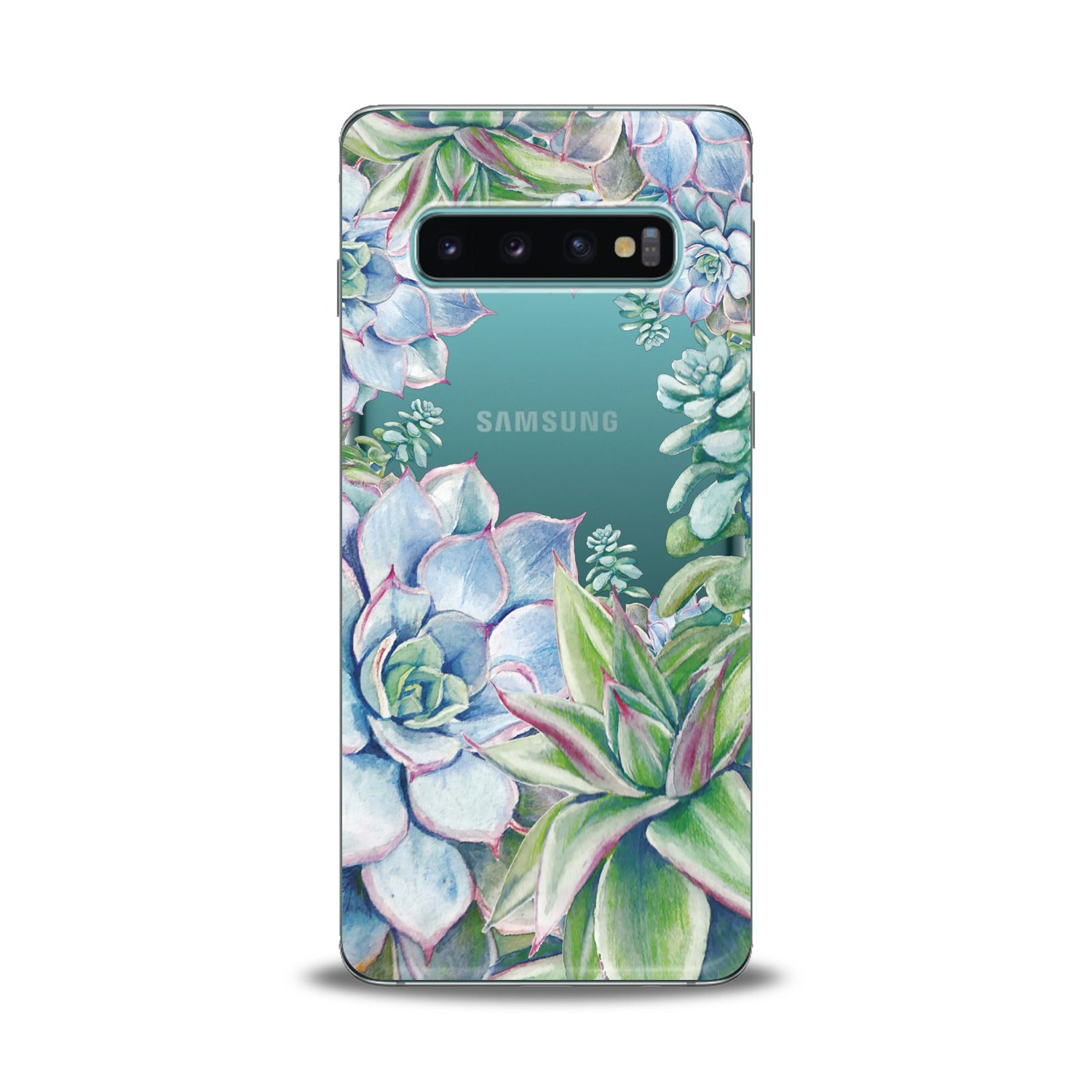 Lex Altern Blue Succulent Samsung Galaxy Case