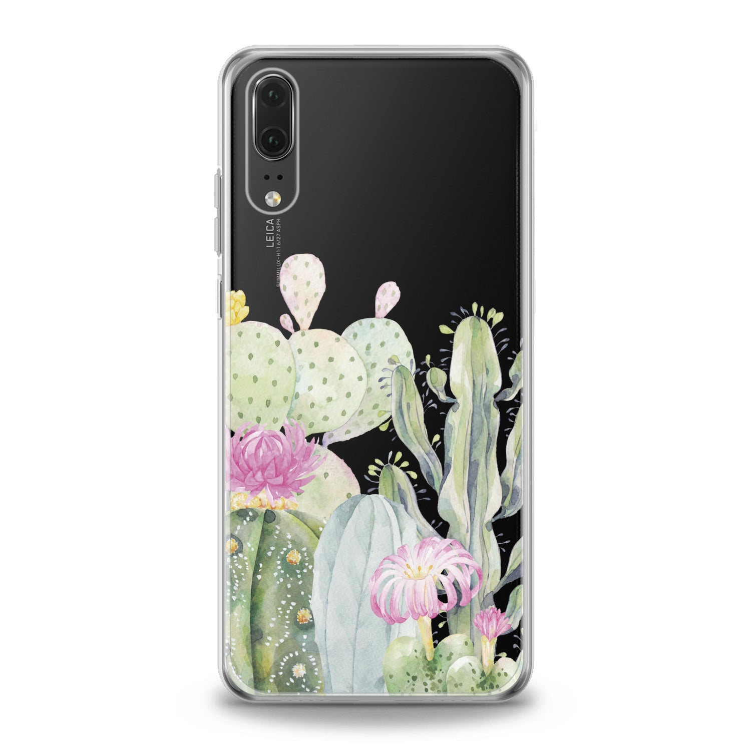Lex Altern Cactus Watercolor Art Huawei Honor Case
