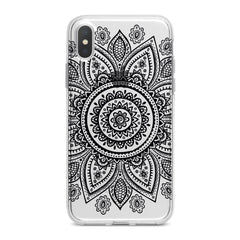 Lex Altern Black Mandala Phone Case for your iPhone & Android phone.