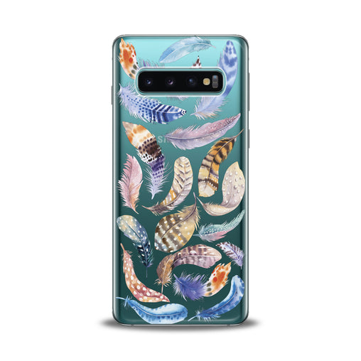 Lex Altern Feathers Pattern Samsung Galaxy Case