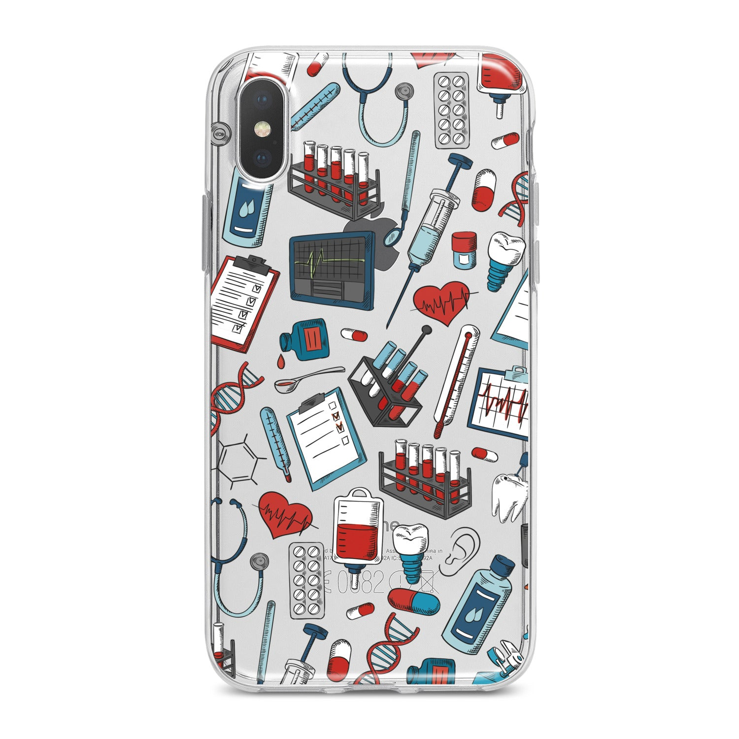 Lex Altern Medical Pattern Phone Case for your iPhone & Android phone.
