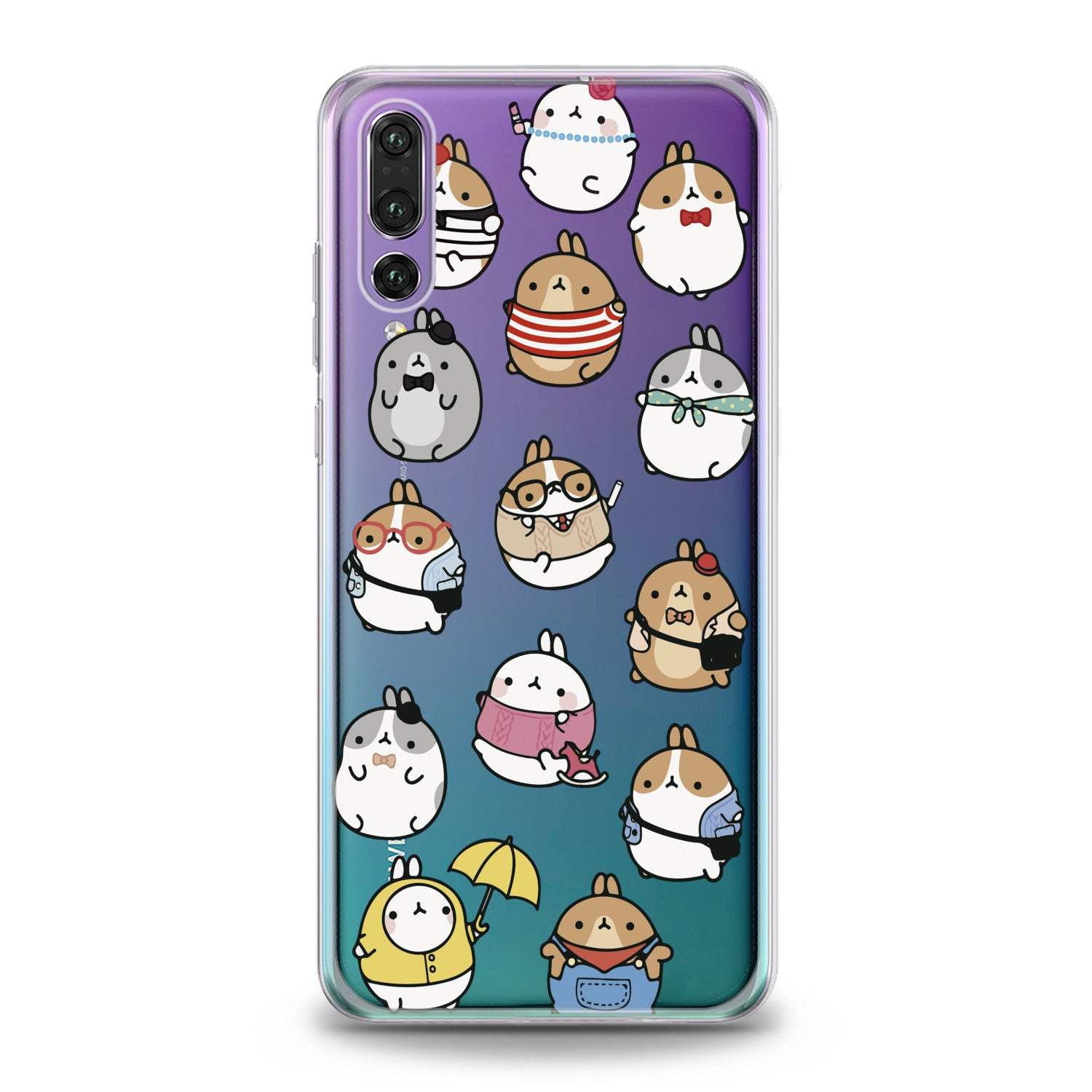 Lex Altern Kawaii Cartoon Huawei Honor Case