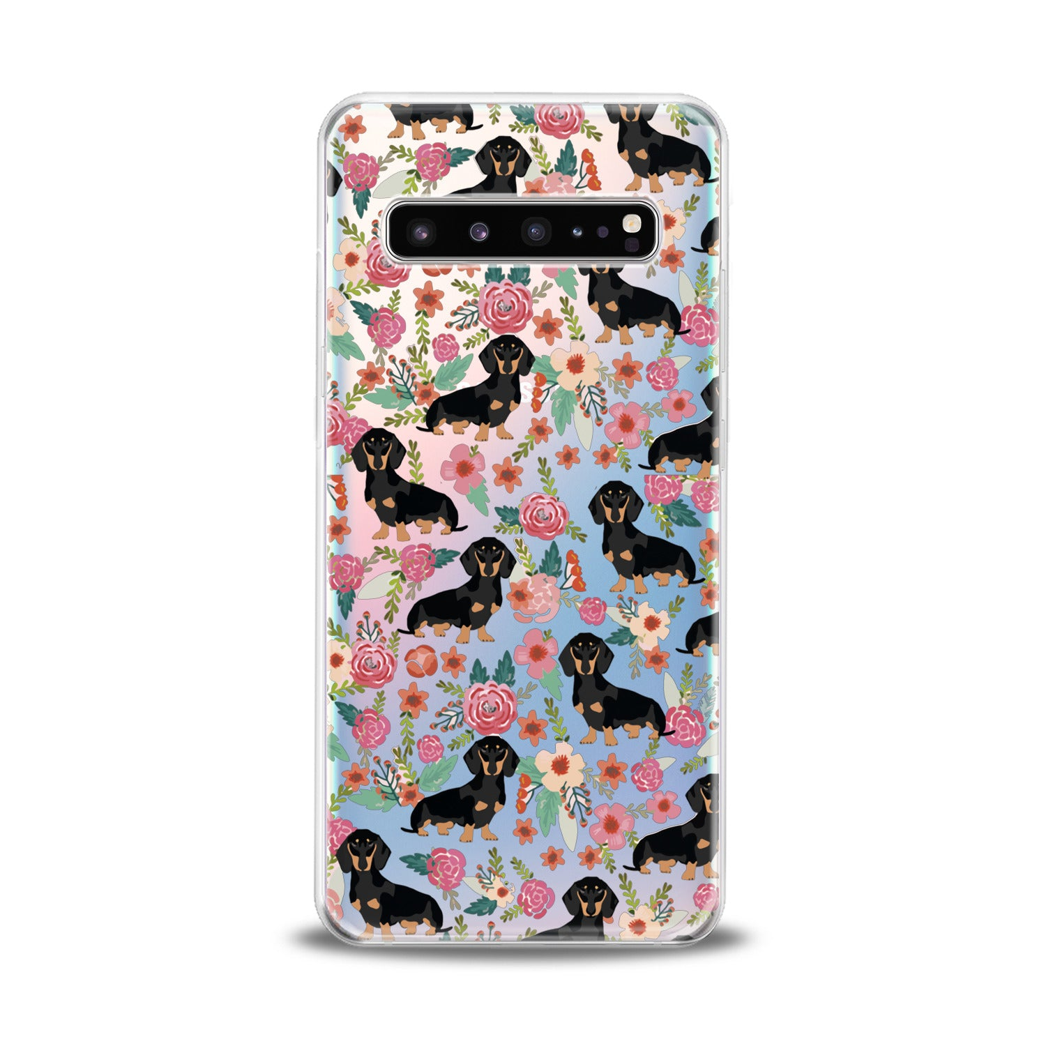 Lex Altern Basset In Flowers Samsung Galaxy Case