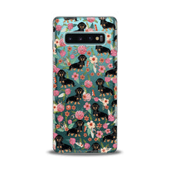 Lex Altern TPU Silicone Samsung Galaxy Case Basset in Flowers