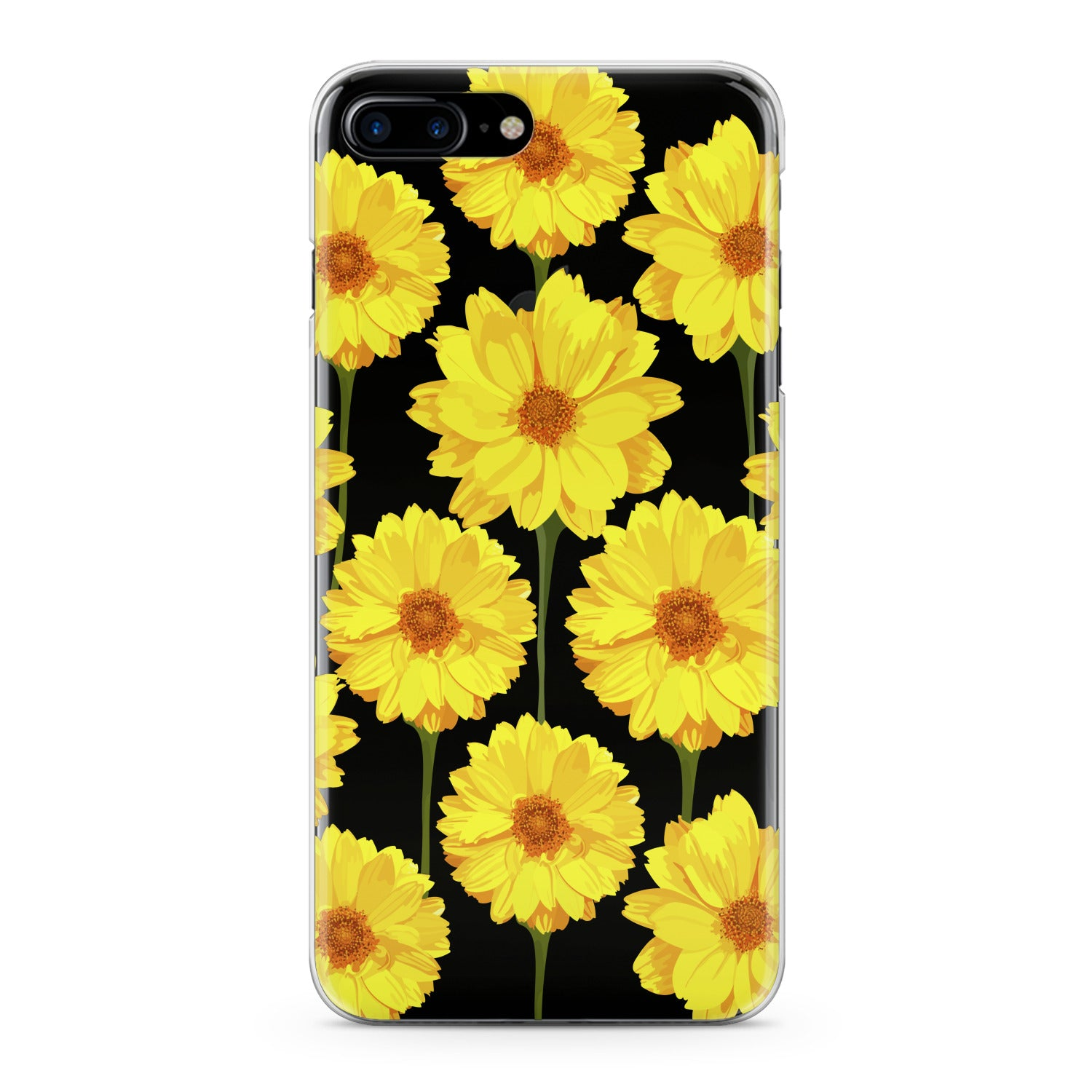 Lex Altern Bright Yellow Daisies Phone Case for your iPhone & Android phone.
