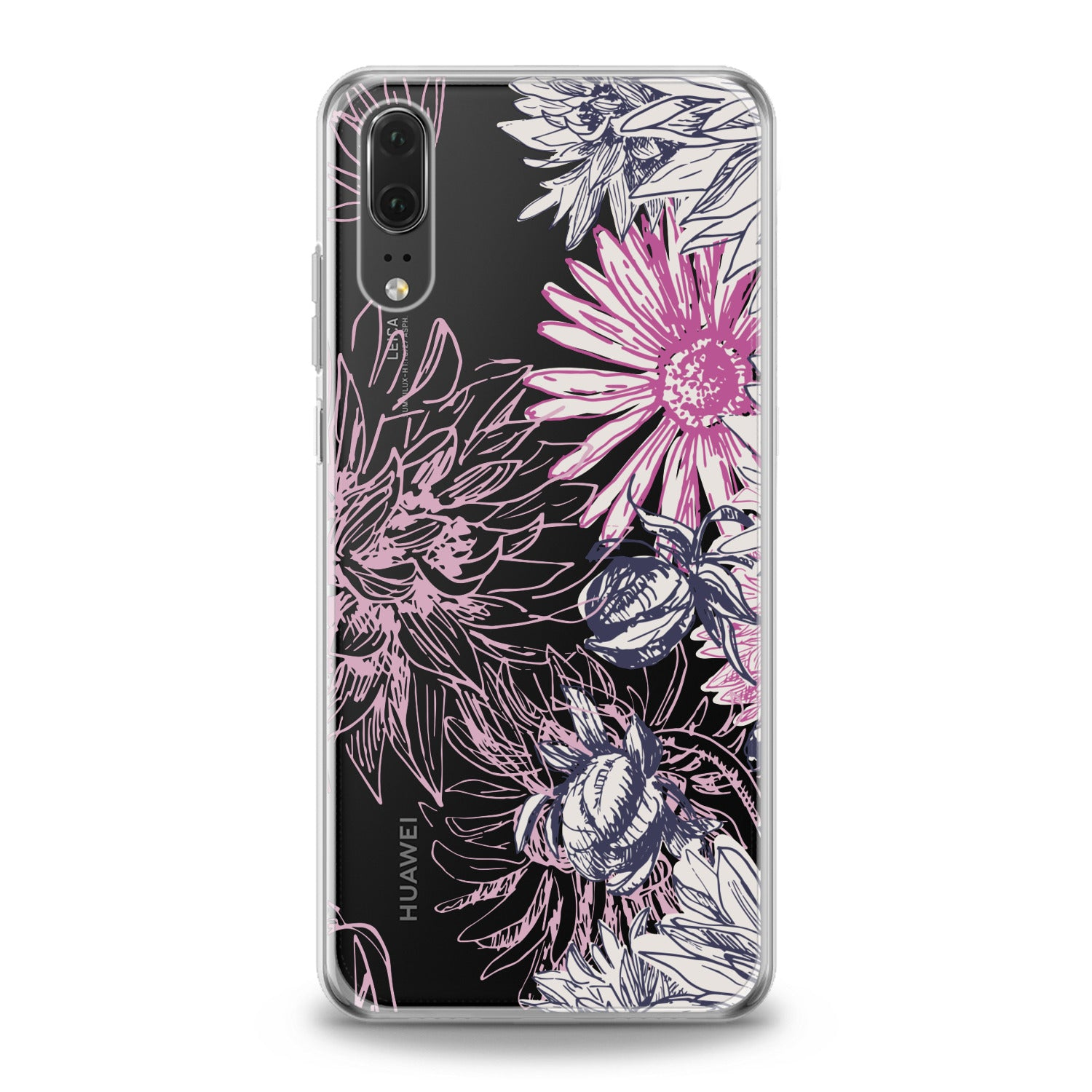 Lex Altern Pink Chrysanthemum Print Huawei Honor Case