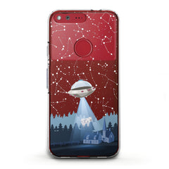 Lex Altern TPU Silicone Phone Case Spaceship