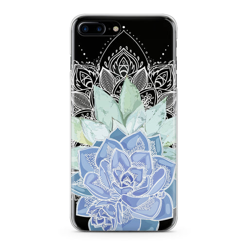 Lex Altern Blue Succulent Plant Phone Case for your iPhone & Android phone.