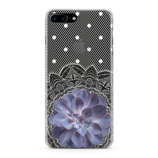 Lex Altern Purple Succulent Plant Phone Case for your iPhone & Android phone.
