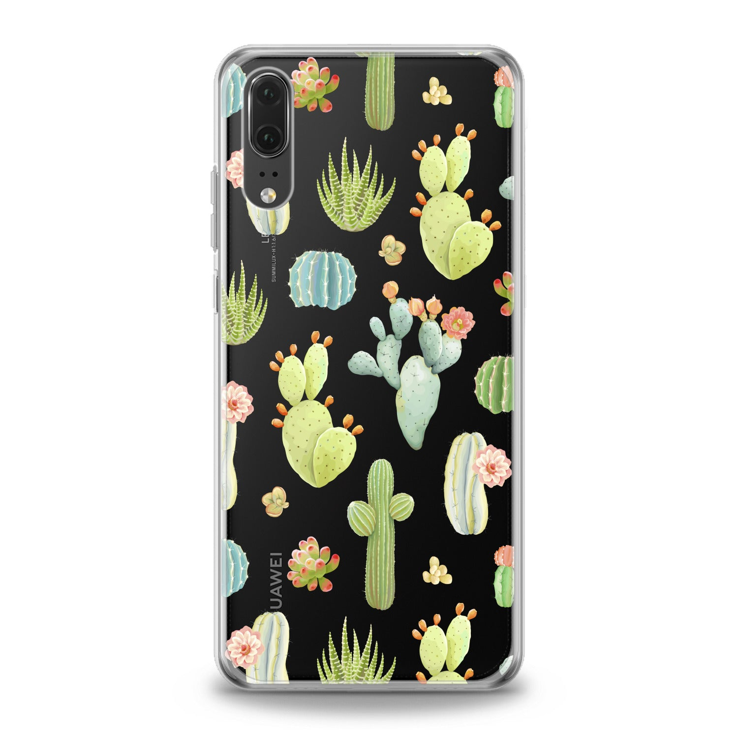 Lex Altern Pastel Cactuses Huawei Honor Case