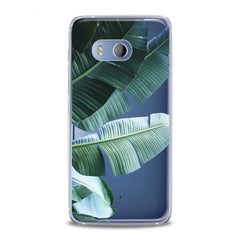 Lex Altern TPU Silicone HTC Case Green Tropical Leaves
