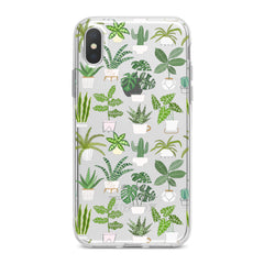 Lex Altern TPU Silicone Phone Case Tropical Potted Plants