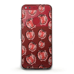 Lex Altern TPU Silicone Phone Case Red Drawing Apple
