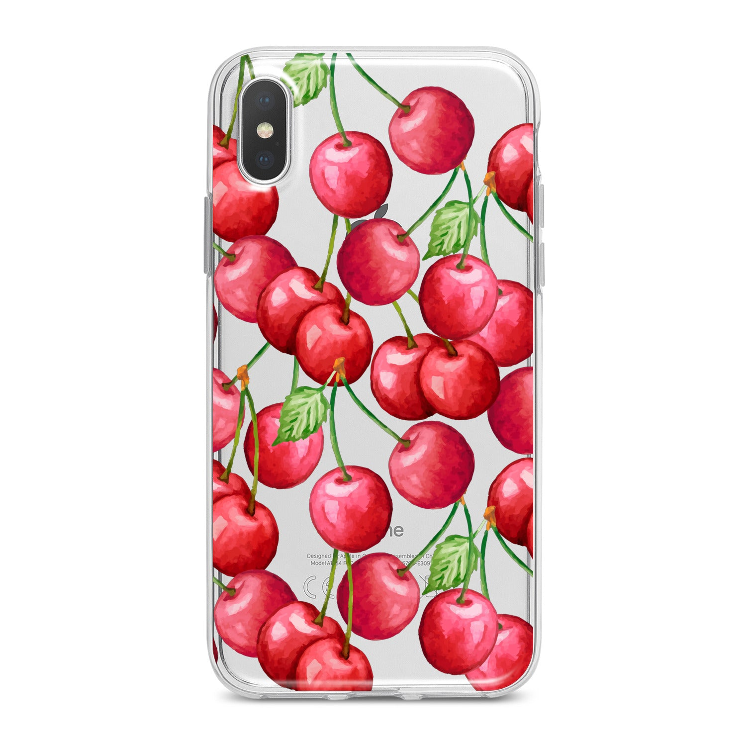 Lex Altern Watercolor Cherries Phone Case for your iPhone & Android phone.