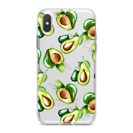 Lex Altern Bright Avocado Pattern Phone Case for your iPhone & Android phone.