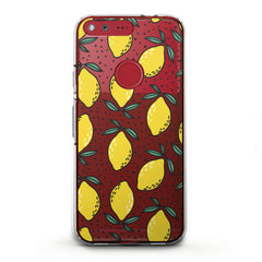 Lex Altern TPU Silicone Phone Case Lemon Drawing Art