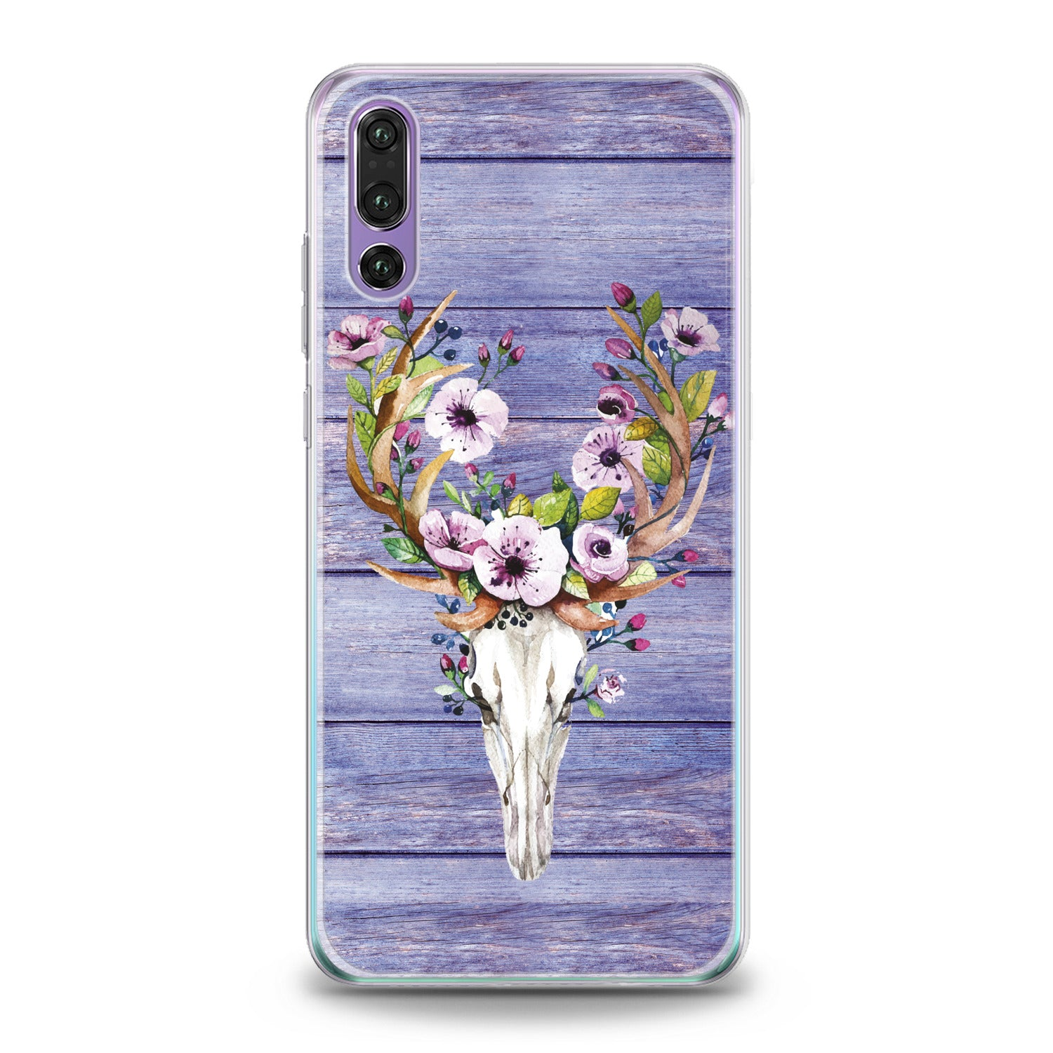 Lex Altern Floral Animal Skull Huawei Honor Case