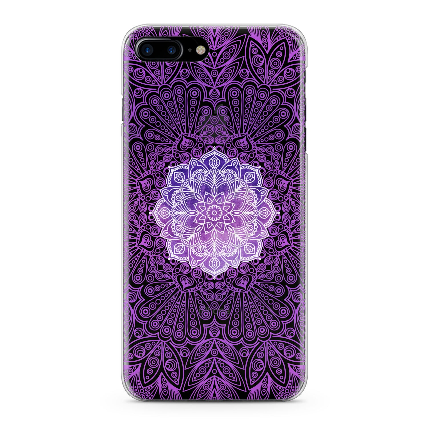 Lex Altern Purple Mandala Print Phone Case for your iPhone & Android phone.