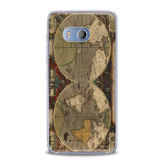 Lex Altern TPU Silicone HTC Case Ancient Atlas Worldwide
