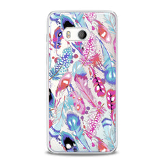 Lex Altern TPU Silicone HTC Case Colored Gentle Feathers