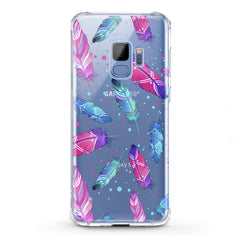 Lex Altern TPU Silicone Phone Case Bright Pink Feathers