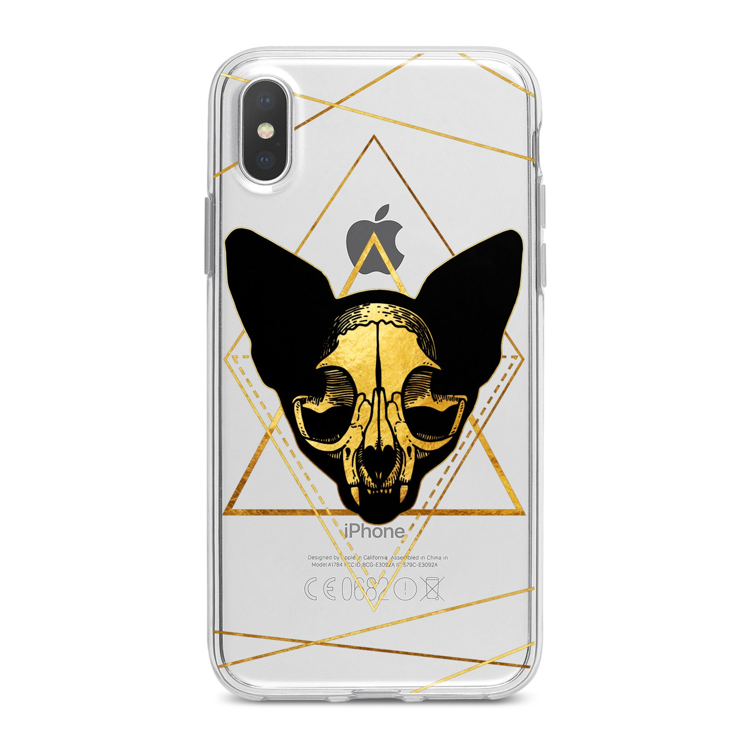 Lex Altern Boho Cat Skull Phone Case for your iPhone & Android phone.
