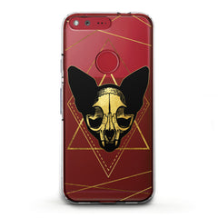 Lex Altern TPU Silicone Phone Case Boho Cat Skull