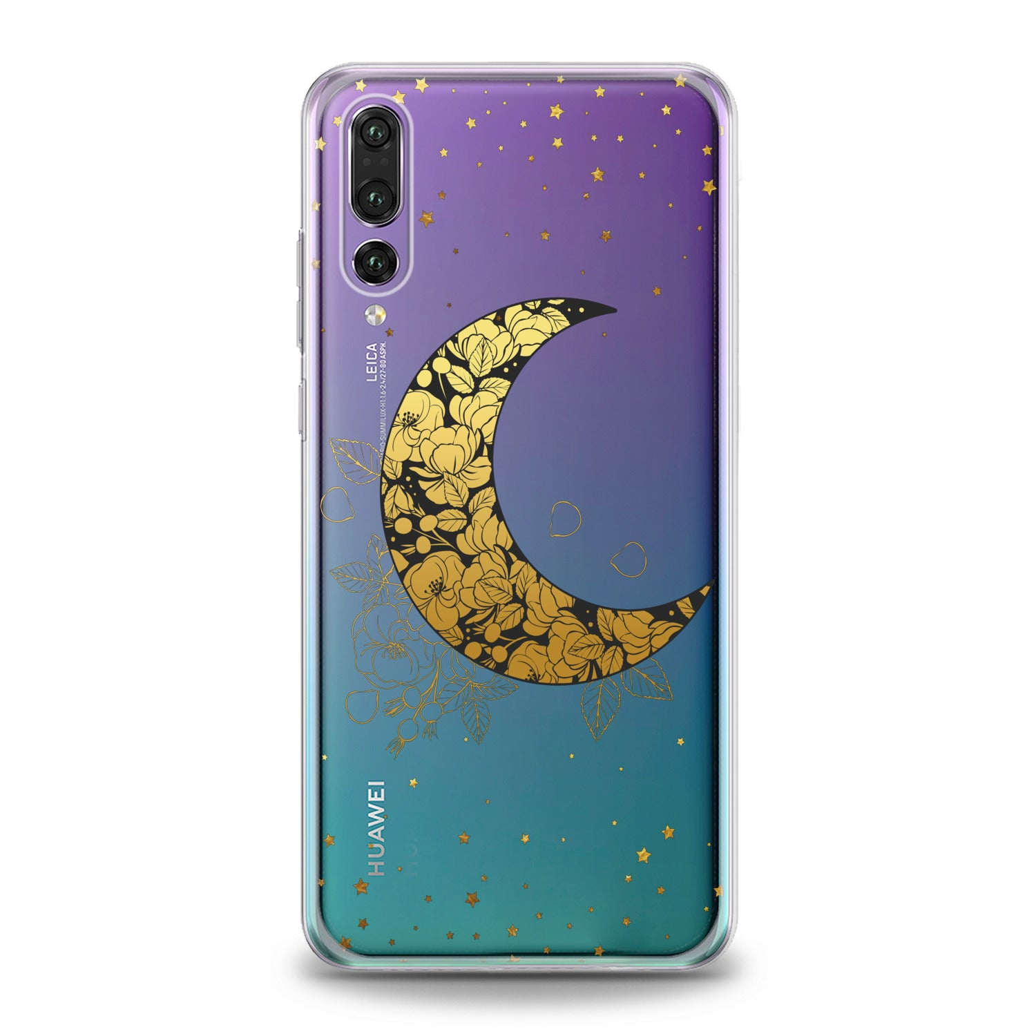 Lex Altern Golden Floral Moon Huawei Honor Case