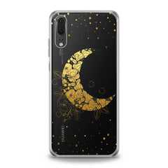 Lex Altern TPU Silicone Huawei Honor Case Golden Floral Moon