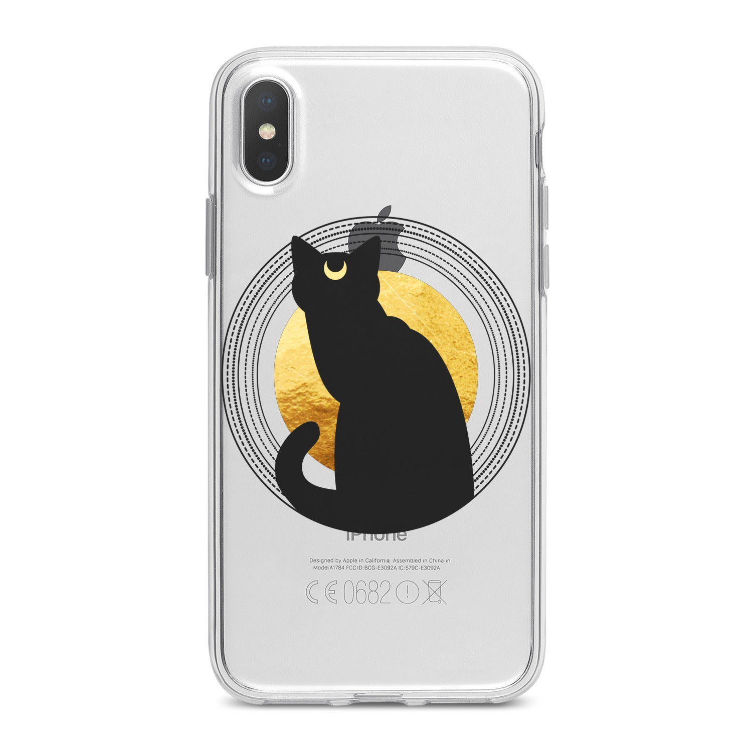 Lex Altern Bohemian Black Cat Phone Case for your iPhone & Android phone.