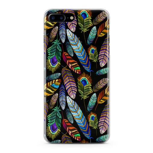 Lex Altern Gentle Feathers Pattern Phone Case for your iPhone & Android phone.
