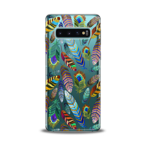 Lex Altern Gentle Feathers Pattern Samsung Galaxy Case