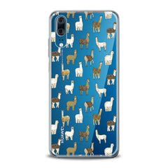 Lex Altern TPU Silicone Huawei Honor Case Alpaca Pattern