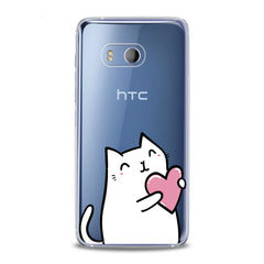 Lex Altern TPU Silicone HTC Case Lovely White Cat