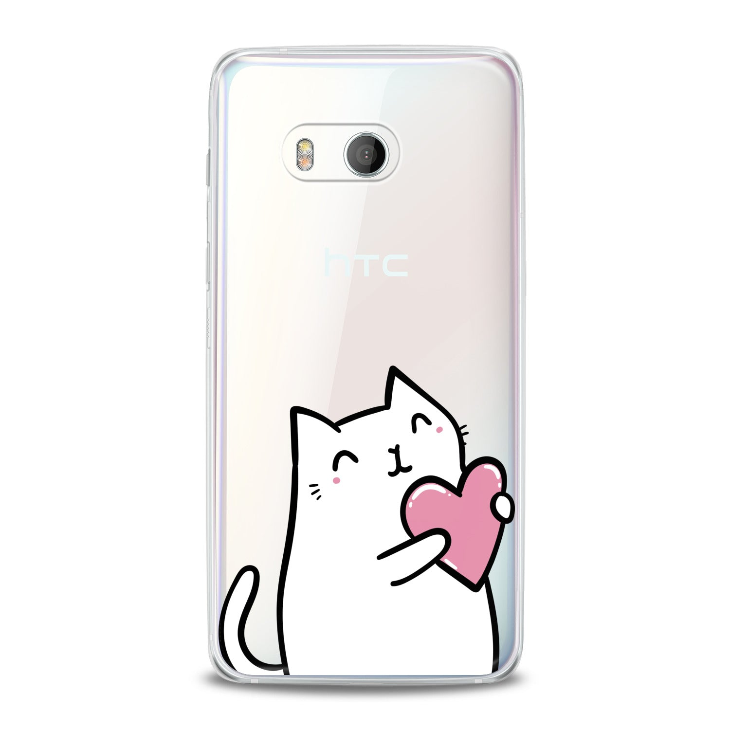 Lex Altern Lovely White Cat HTC Case