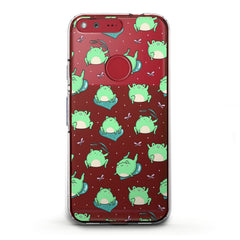 Lex Altern TPU Silicone Phone Case Kawaii Frogs Pattern
