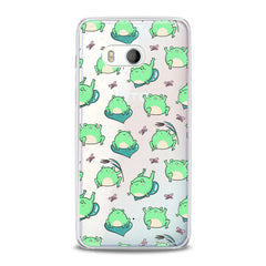 Lex Altern TPU Silicone HTC Case Kawaii Frogs Pattern