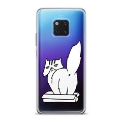 Lex Altern TPU Silicone Huawei Honor Case White Cranky Cat
