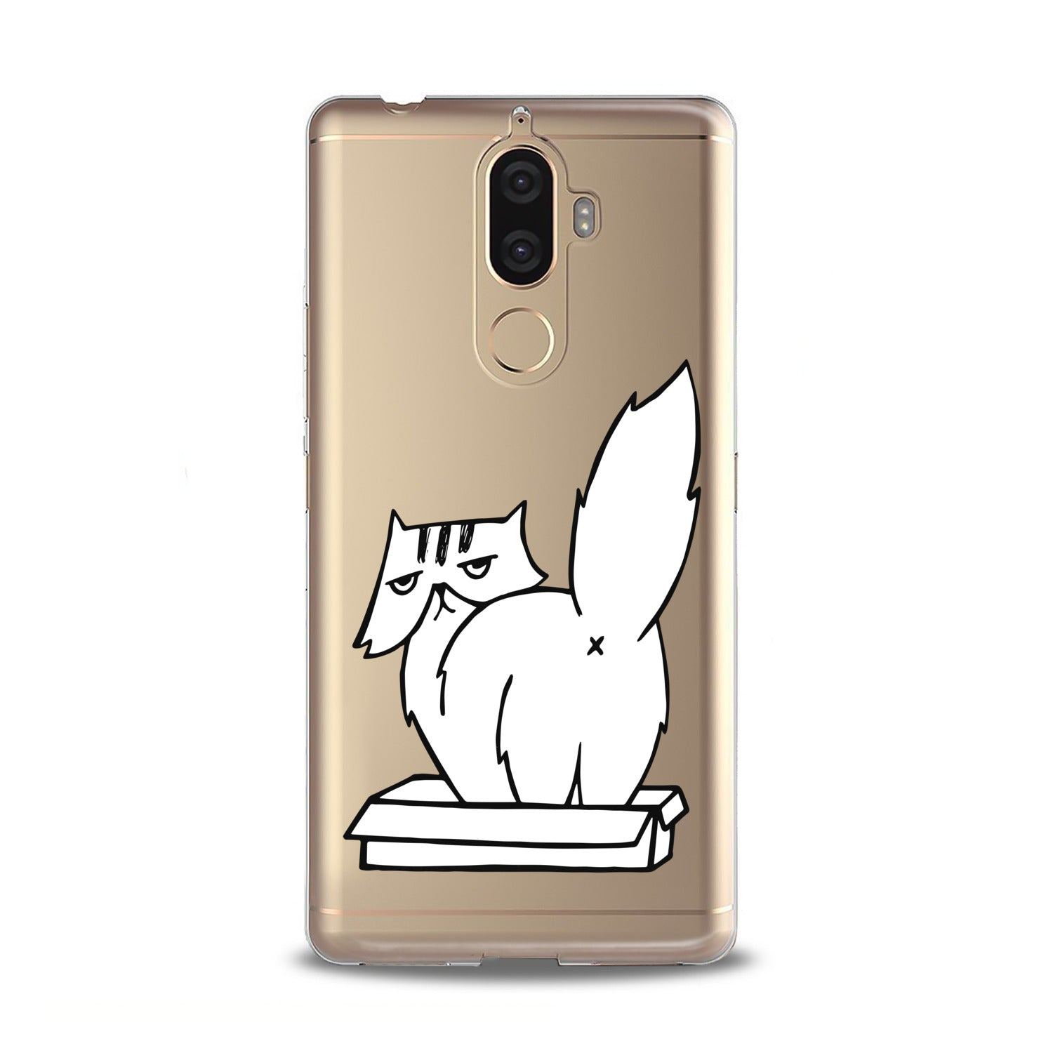 Lex Altern White Cranky Cat Lenovo Case