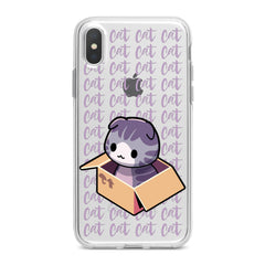 Lex Altern Purple Cat in Box Phone Case for your iPhone & Android phone.