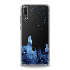 Lex Altern TPU Silicone Huawei Honor Case Blue Castle