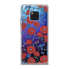 Lex Altern TPU Silicone Huawei Honor Case Red Wildflowers Bloom
