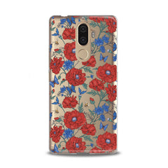Lex Altern TPU Silicone Lenovo Case Red Wildflowers Bloom